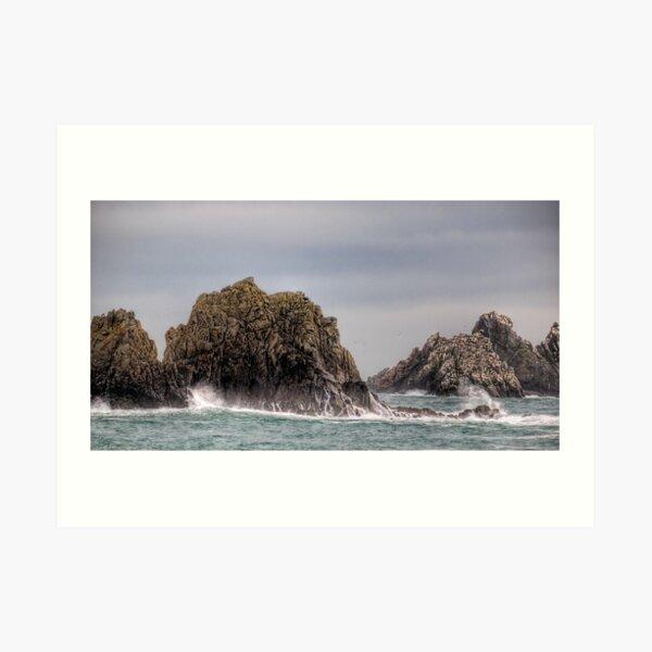 Waves Crashing on the Gannet Rocks Art Print
