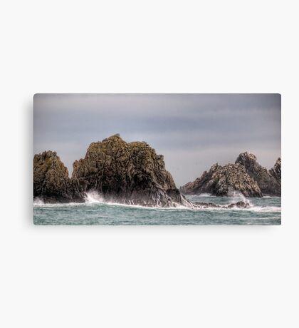 Waves Crashing on the Gannet Rocks Canvas Print