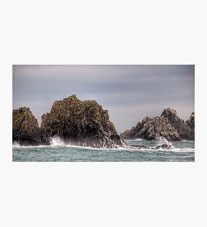 Waves Crashing on the Gannet Rocks Photographic Print