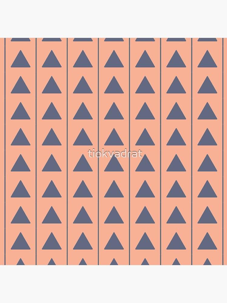 Pyramids - Blue on Cream by tiokvadrat