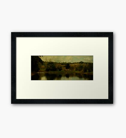 Holding Thought Framed Print