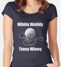 Wibbly Wobbly Timey Wimey  Women's Fitted Scoop T-Shirt