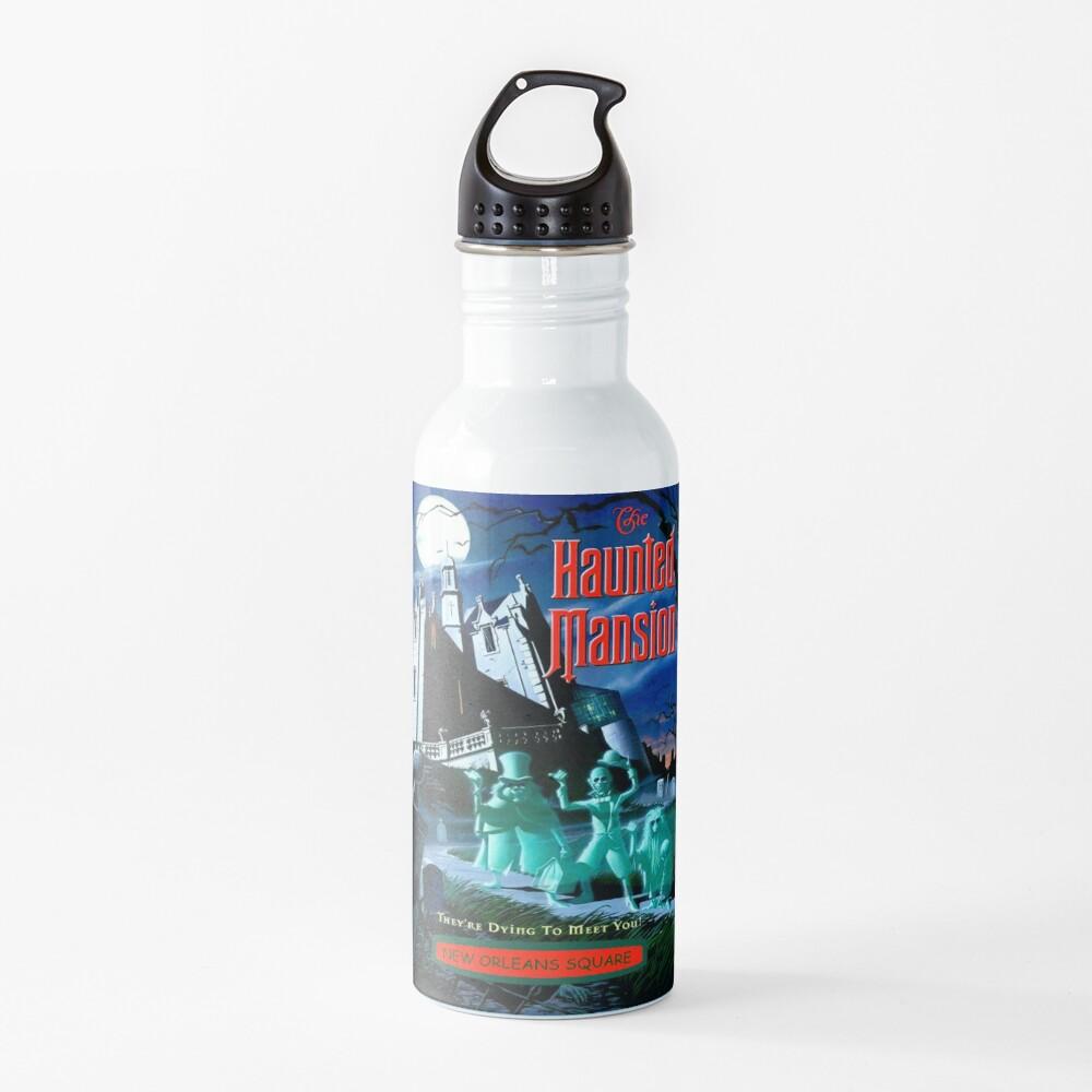 HAUNTED MANSION : Vintage Ghosts Advertising Print Water Bottle