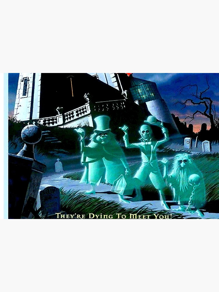 HAUNTED MANSION : Vintage Ghosts Advertising Print by posterbobs
