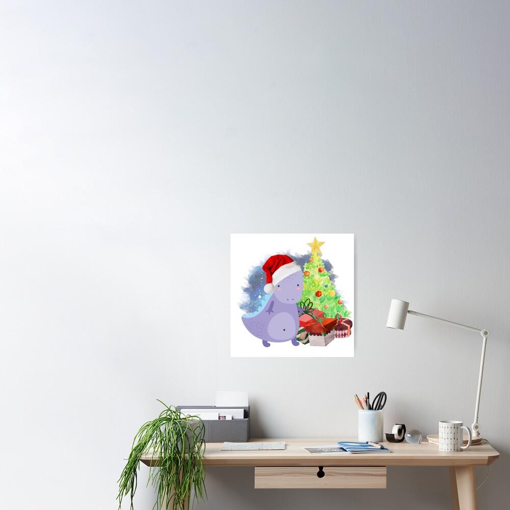 Treesaurus: a Dinosaur Christmas Poster