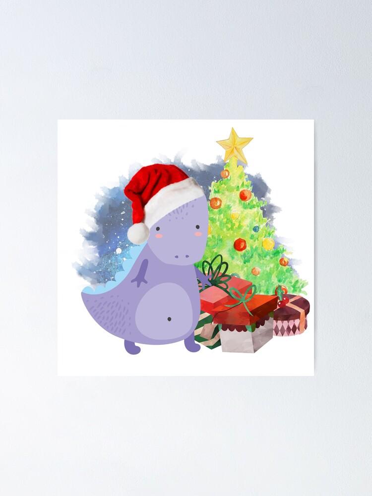 Alternate view of Treesaurus: a Dinosaur Christmas Poster