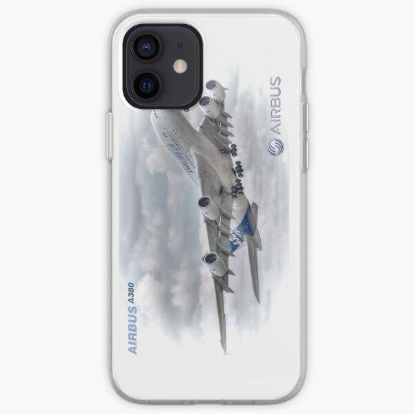 Airbus A380 Take-Off - Couettes, étuis, oreillers, etc. Coque souple iPhone