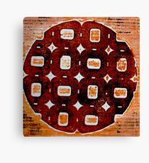 The Orange Plate (Collagraph 2) Canvas Print