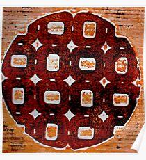 The Orange Plate (Collagraph 2) Poster