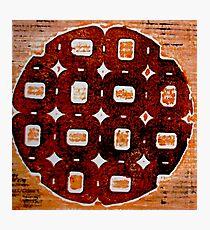 The Orange Plate (Collagraph 2) Photographic Print