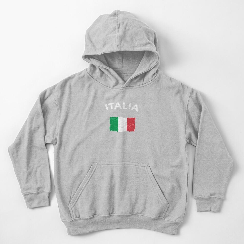 Vintage Italian Flag Kids Pullover Hoodie