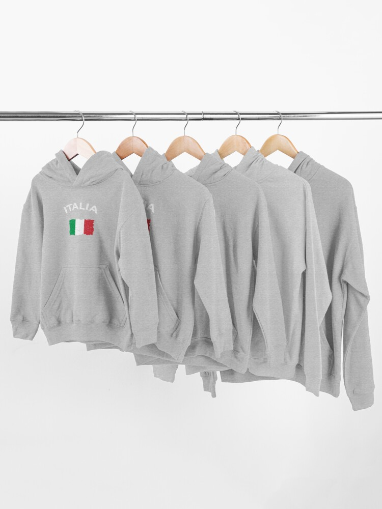 Alternate view of Vintage Italian Flag Kids Pullover Hoodie