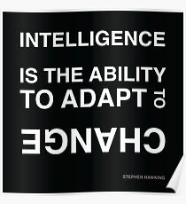Intelligence ~Stephen Hawking Poster