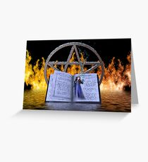 Fire and Water Spell Greeting Card