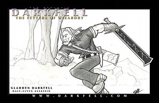 Gladden Darkfell by evilhare