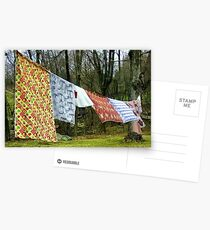 How to Dry an American Quilt Postcards
