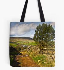 The old farmers track to Pendle Hill Tote Bag