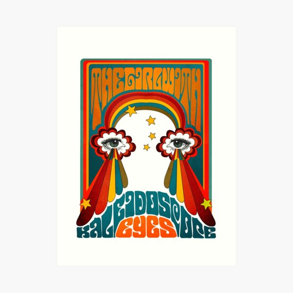 The Beatles Lucy In The Sky With Diamonds Kaleidoscope Eyes Art Print