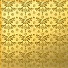Gold Foil With Gold Glitter Pattern by Cherie Balowski