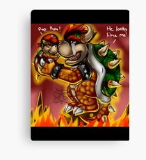 Bowser and Jr Canvas Print