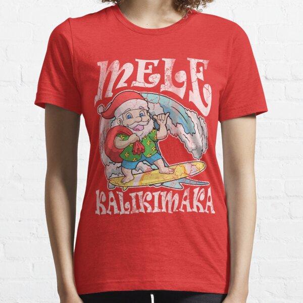 Mele Kalikimaka Hawaiian Christmas Hawaii  Essential T-Shirt