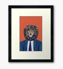 Mr. Lion's portrait Framed Print