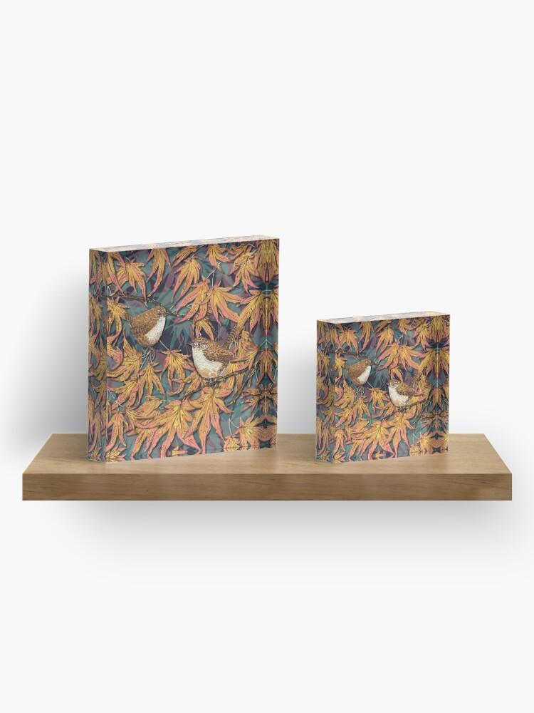 Alternate view of Garden Wrens Acrylic Block