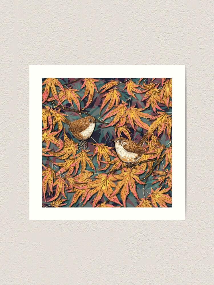 Alternate view of Garden Wrens Art Print