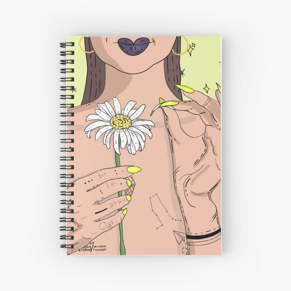 HE LOVES ME, HE LOVES ME NOT Spiral Notebook