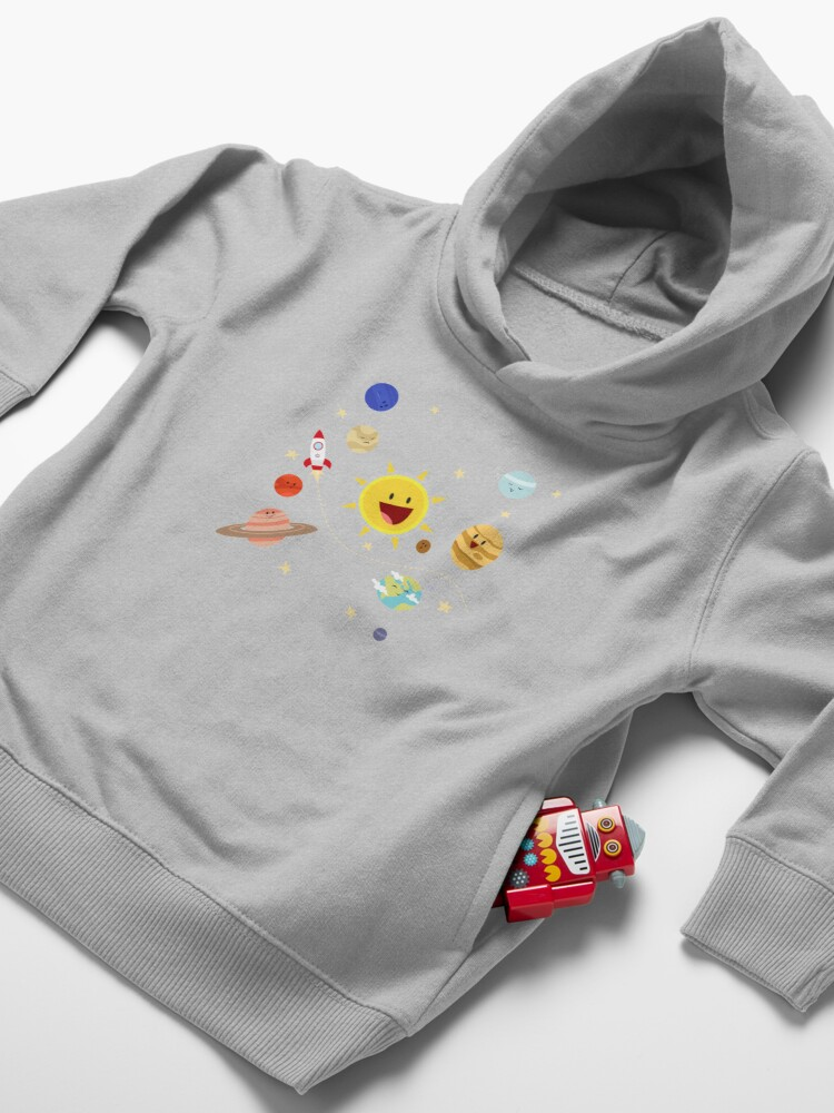 Alternate view of Planets of the Solar System Toddler Pullover Hoodie