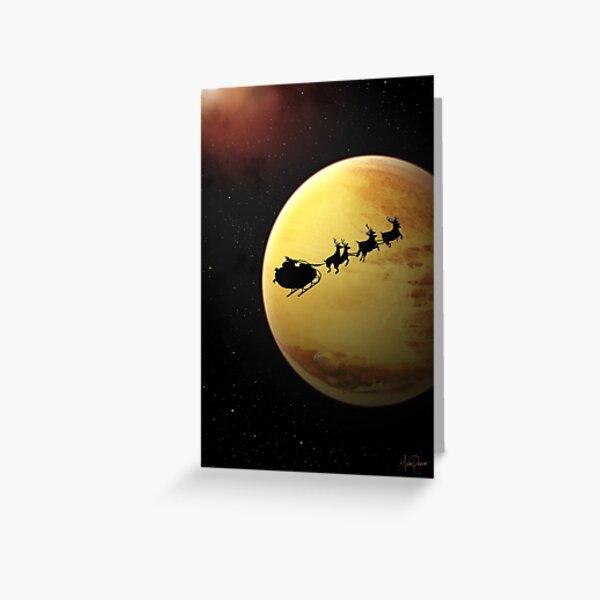 SciFi Christmas Card Greeting Card