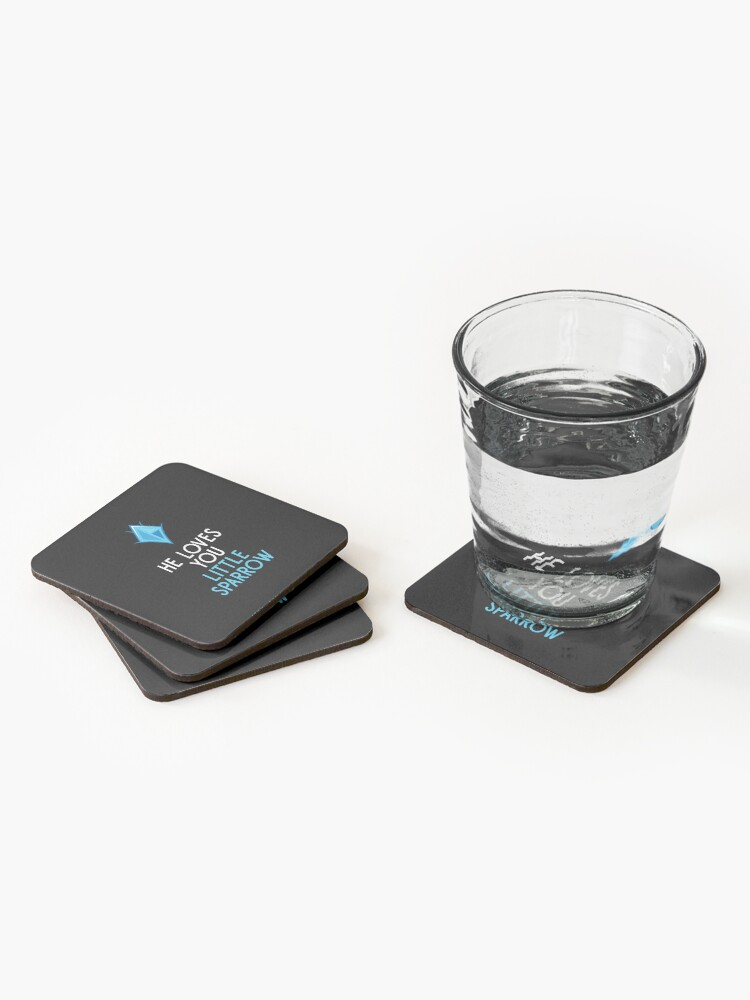 Alternate view of He Loves You, Little Sparrow Coasters (Set of 4)