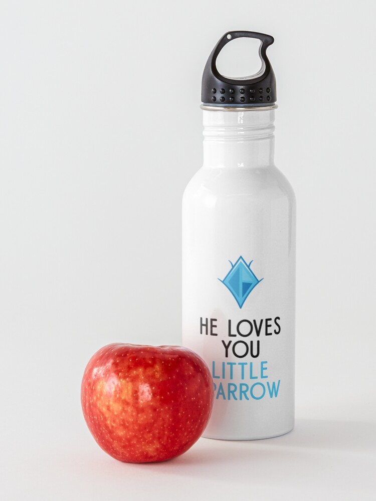 Alternate view of He Loves You, Little Sparrow Water Bottle