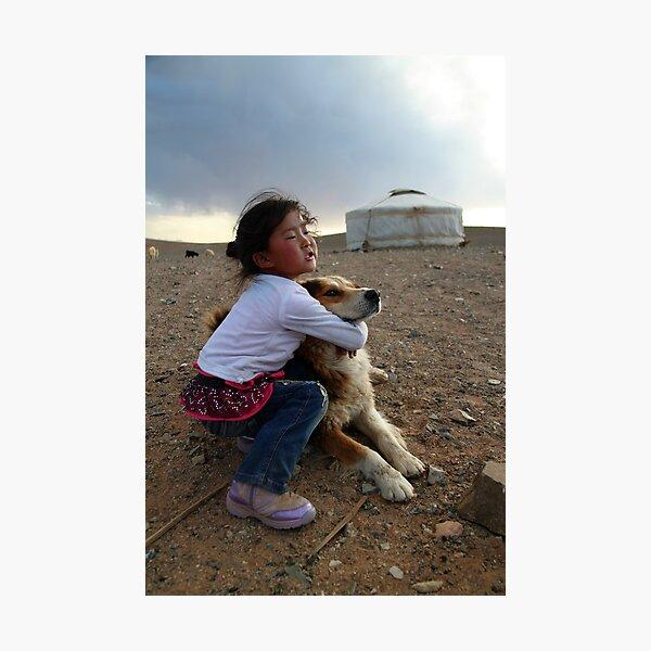 Mongolian girl Photographic Print