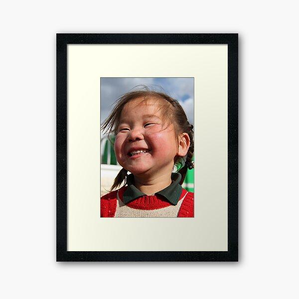 Mongolian girl Framed Art Print