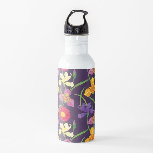 Tigridia, Iris, Daisy Pattern Water Bottle