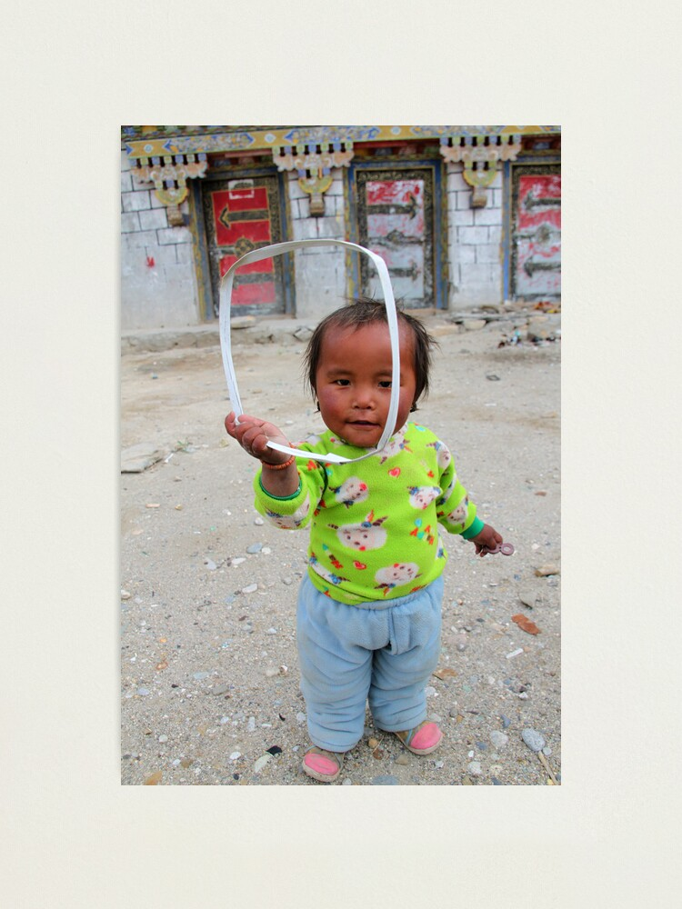 Alternate view of Tibetan girl Photographic Print