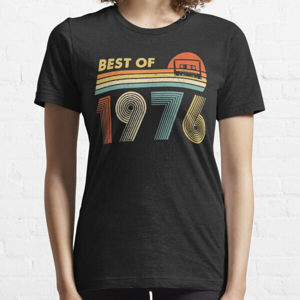 Vintage Best Of 1976 43rd birthday Gift Retro Cassette Tape Essential T-Shirt