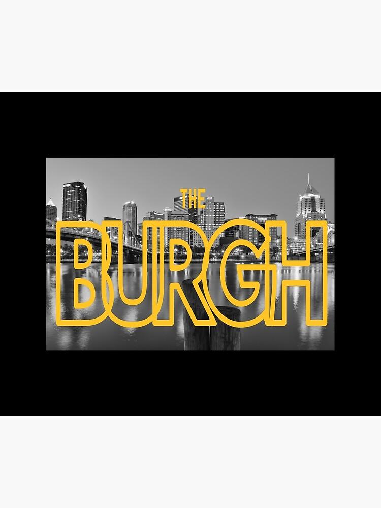 Pittsburgh Skyline Type BW by rbaaronmattie