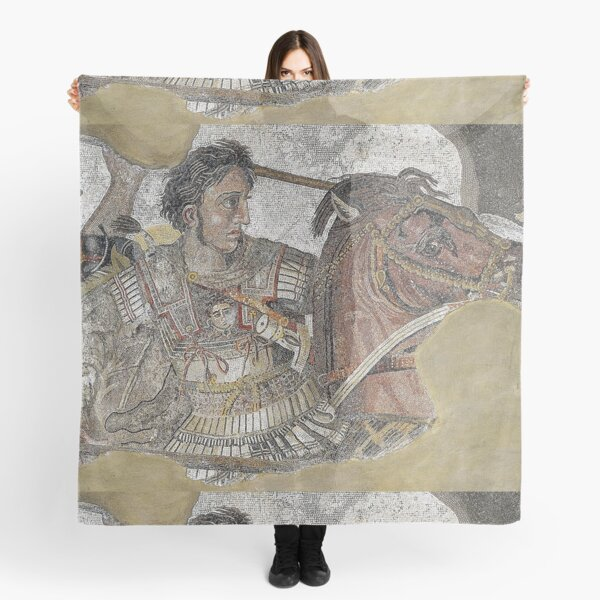 Alexander Mosaic. Battle of Issus from the House of the Faun. Pompeii. Scarf
