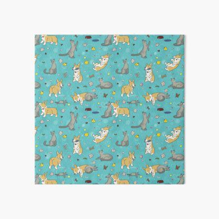 Corgi Cat Friends Art Board Print