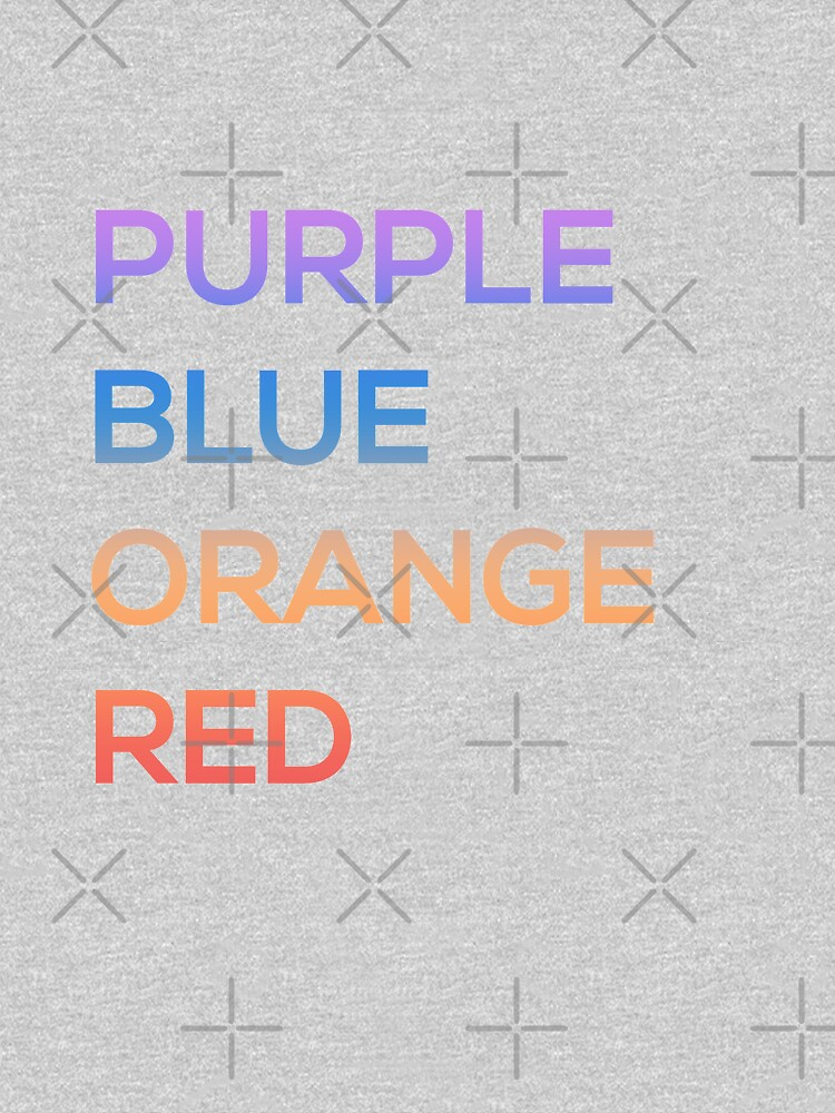 Purple, Blue, Orange, Red by cucumberpatchx