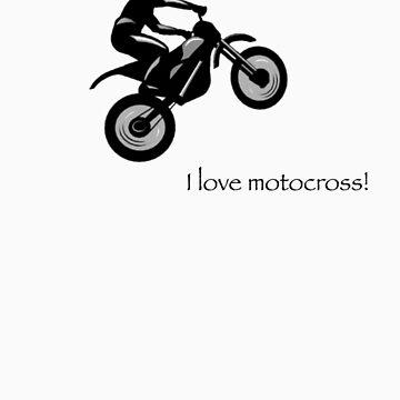 I love motocross t-shirt 2 (black logo) by Spartiatis75