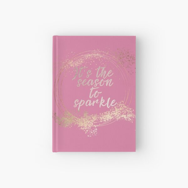 Pink Glam Christmas Decor Hardcover Journal