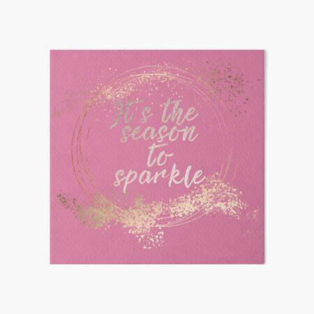 Pink Glam Christmas Decor Art Board Print