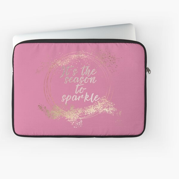 Pink Glam Christmas Decor Laptop Sleeve