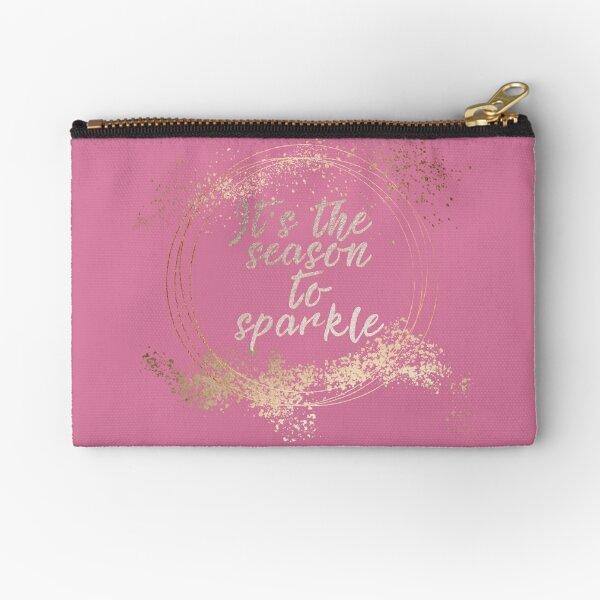 Pink Glam Christmas Decor Zipper Pouch