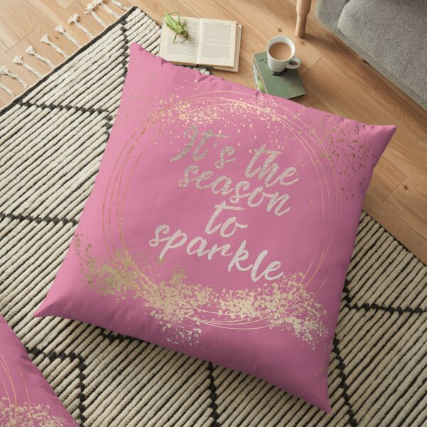 Pink Glam Christmas Decor Floor Pillow