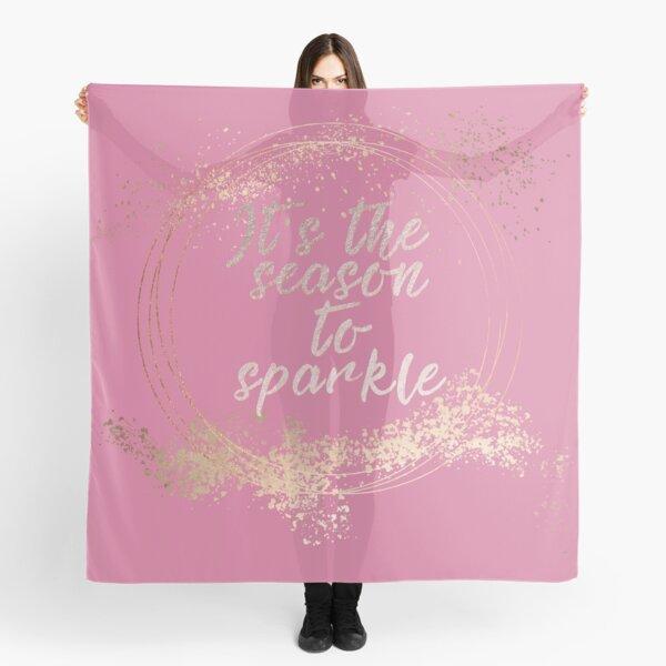 Pink Glam Christmas Decor Scarf
