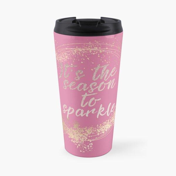 Pink Glam Christmas Decor Travel Mug